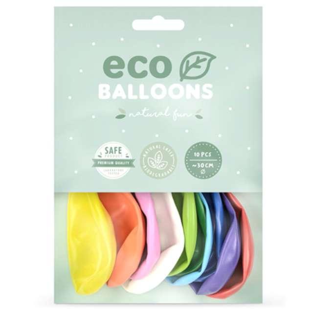 Balony Ekologiczne mix metalik Partydeco 12 10 szt