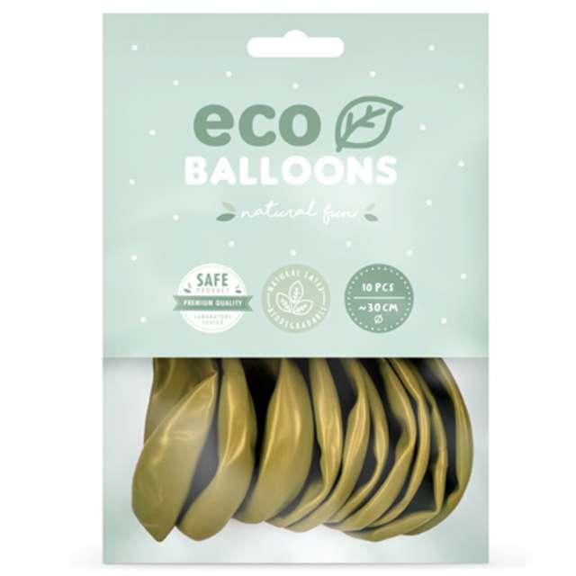 Balony Ekologiczne złoty jasny metalik Partydeco 12 10 szt
