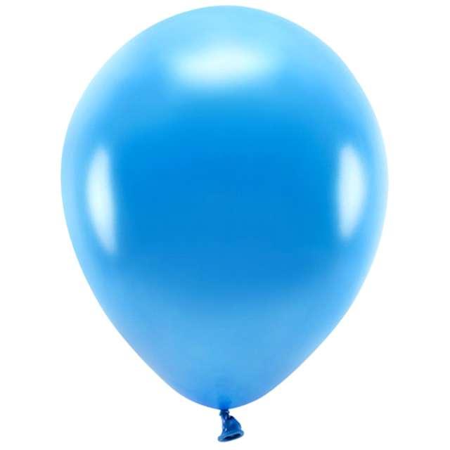 """Balony """"Ekologiczne"""", niebieski metalik, Partydeco, 12"""", 10 szt"""