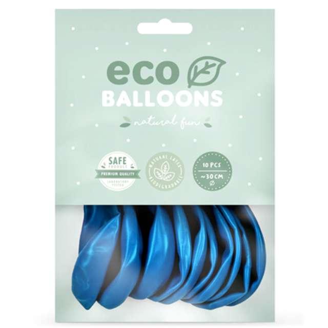 Balony Ekologiczne niebieski metalik Partydeco 12 10 szt