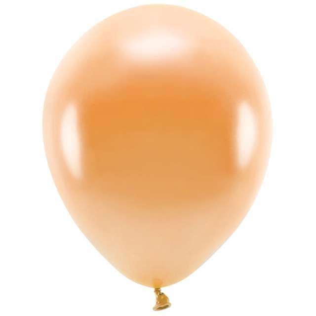 """Balony """"Ekologiczne"""", pomarańczowy metalik, Partydeco, 12"""", 10 szt"""