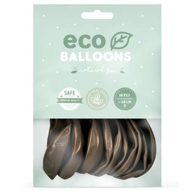 Balony Ekologiczne brązowy metalik Partydeco 12 10 szt
