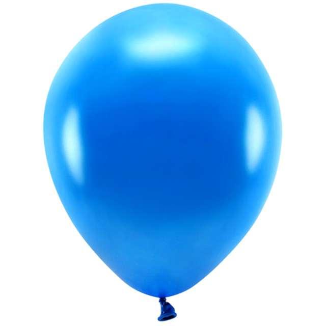 """Balony """"Ekologiczne"""", granatowy metalik, Partydeco, 12"""", 10 szt"""