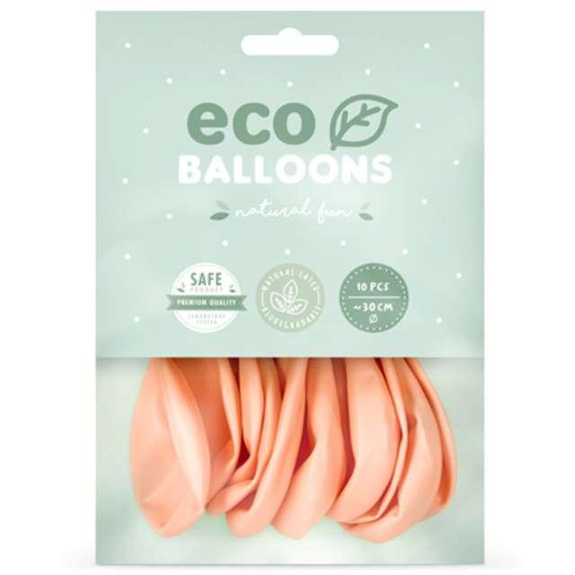 Balony Ekologiczne brzoskwiniowy metalik Partydeco 12 10 szt