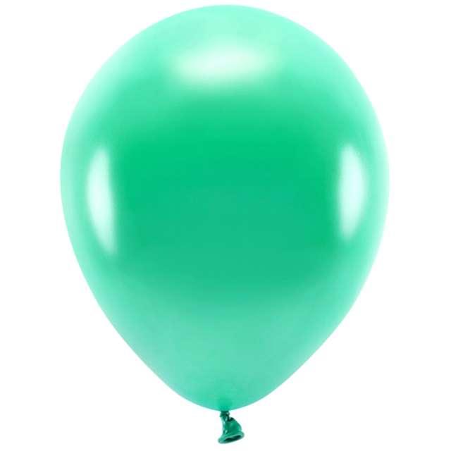 """Balony """"Ekologiczne"""", zielony metalik, Partydeco, 12"""", 10 szt"""