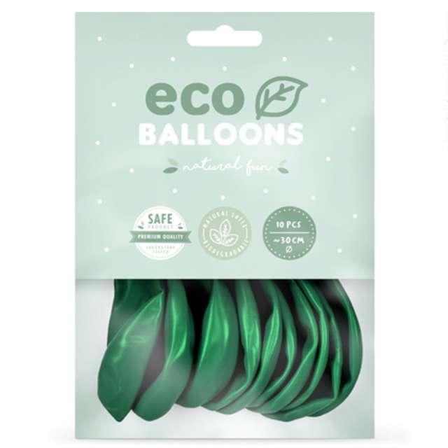 Balony Ekologiczne zielony metalik Partydeco 12 10 szt