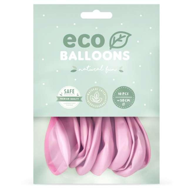 Balony Ekologiczne różowy jasny metalik Partydeco 12 10 szt