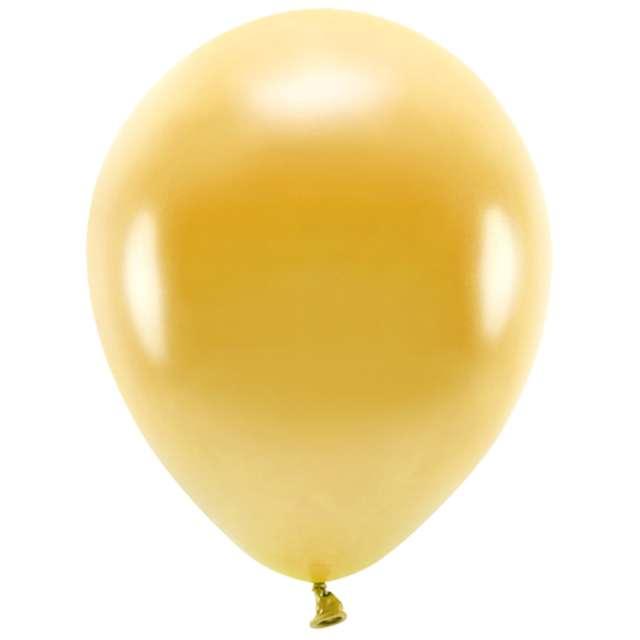 Balony Ekologiczne złoty metalik Partydeco 12 10 szt