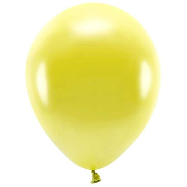 """Balony """"Ekologiczne"""", żółty metalik, Partydeco, 12"""", 10 szt"""