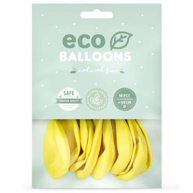 Balony Ekologiczne żółty metalik Partydeco 12 10 szt