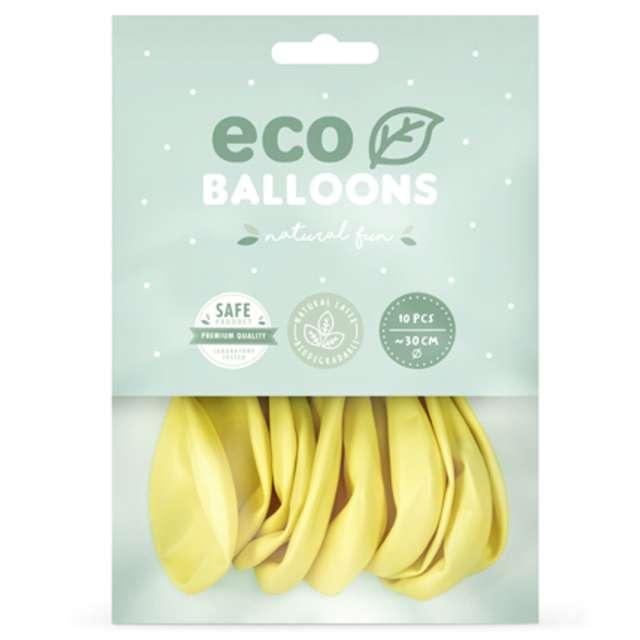 Balony Ekologiczne żółty jasny metalik Partydeco 12 10 szt