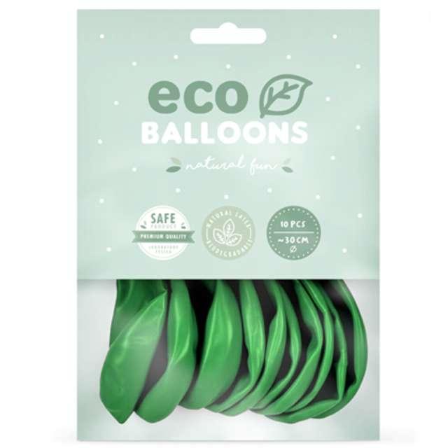 Balony Ekologiczne zielona trawa metalik Partydeco 12 10 szt