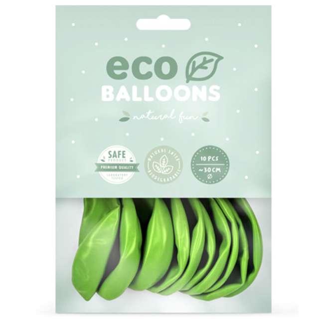 Balony Ekologiczne zielone jabłuszko metalik Partydeco 12 10 szt