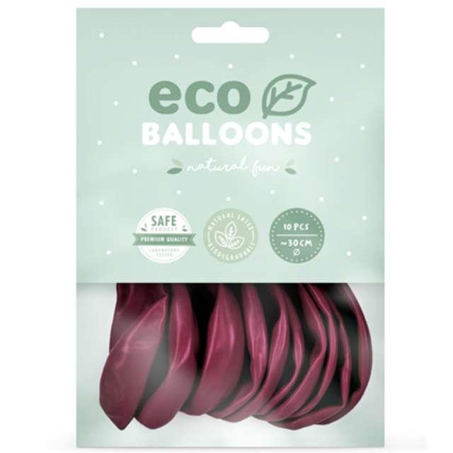 Balony Ekologiczne bordowe Partydeco 12 10 szt