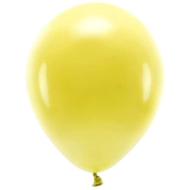 """Balony """"Ekologiczne"""", żółte ciemne, Partydeco, 12"""", 10 szt"""