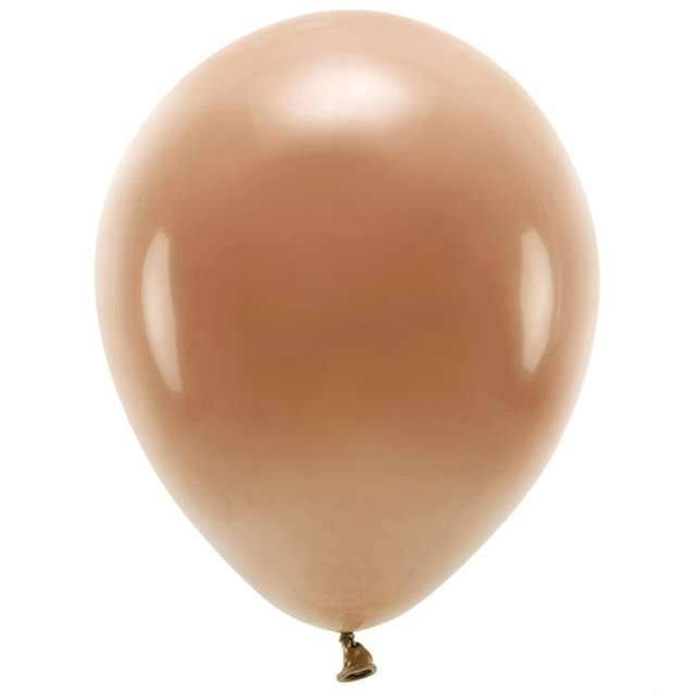 """Balony """"Ekologiczne"""", brązowe czekoladowe, Partydeco, 12"""", 10 szt"""