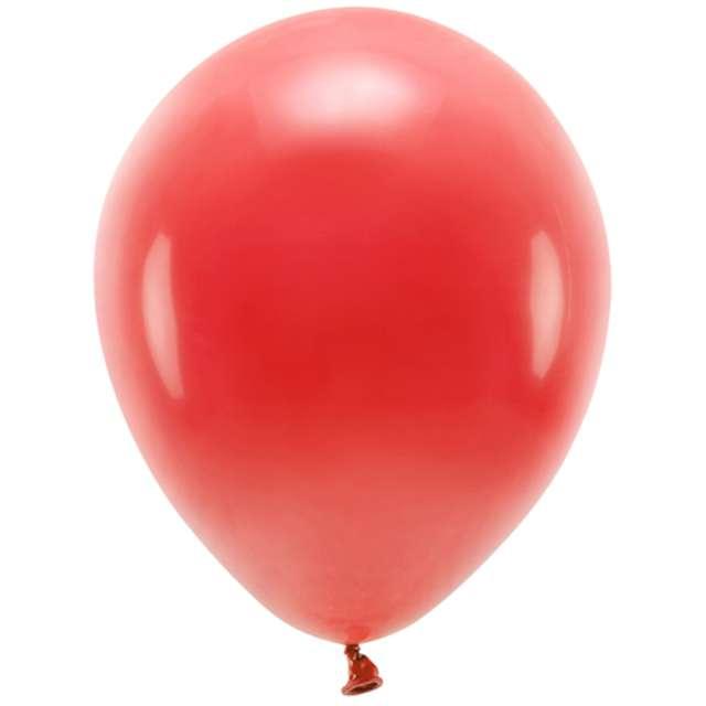 """Balony """"Ekologiczne"""", czerwone, Partydeco, 12"""", 10 szt"""