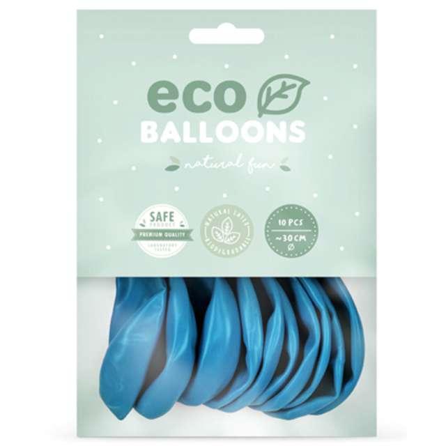 Balony Ekologiczne niebieskie jasne Partydeco 12 10 szt
