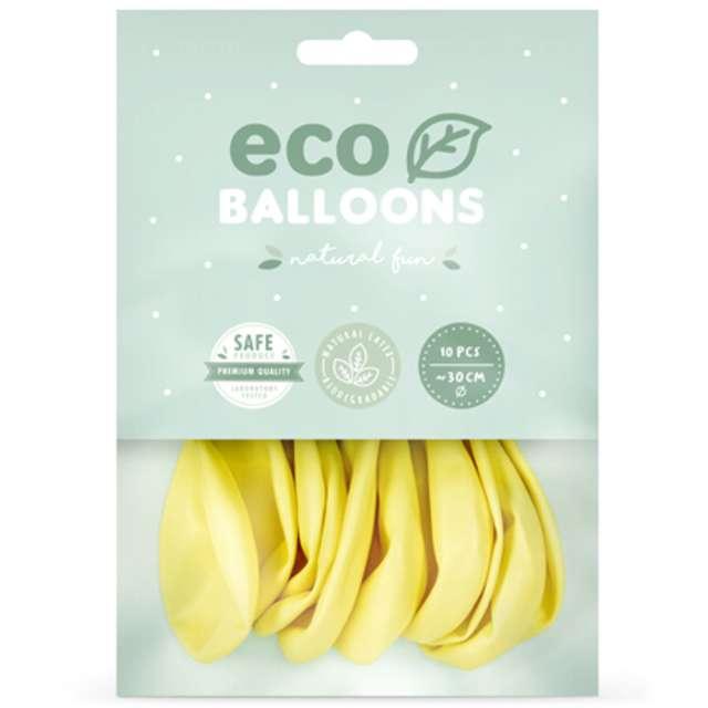 Balony Ekologiczne żółte jasne Partydeco 12 10 szt