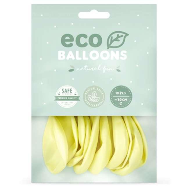 Balony Ekologiczne kremowe Partydeco 12 10 szt