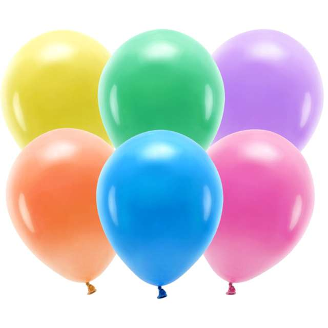 "Balony ""Ekologiczne"", mix, Partydeco, 12"", 10 szt"
