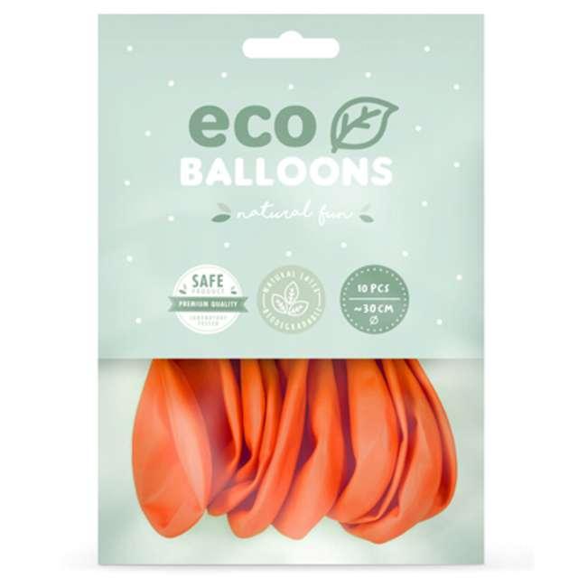 Balony Ekologiczne pomarańczowe Partydeco 12 10 szt