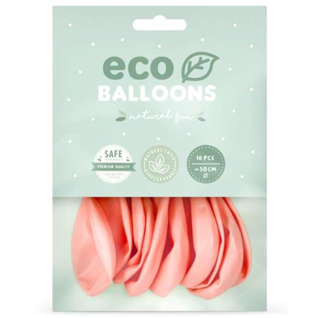 Balony Ekologiczne różowe rumiane Partydeco 12 10 szt