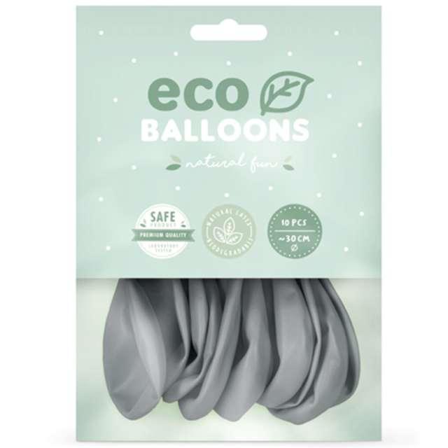 Balony Ekologiczne szare Partydeco 12 10 szt