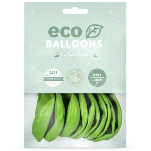 Balony Ekologiczne zielone jabłuszko Partydeco 12 10 szt