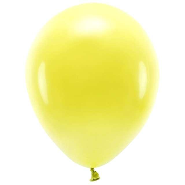 "Balony ""Ekologiczne"", żółte, Partydeco, 12"", 10 szt"