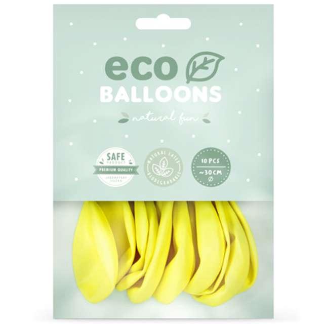 Balony Ekologiczne żółte Partydeco 12 10 szt