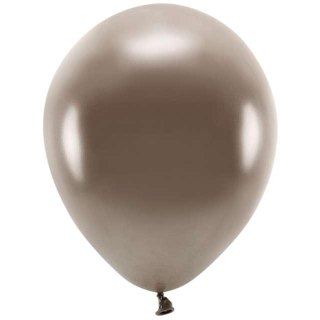 """Balony """"Ekologiczne"""", brązowy metalik, Partydeco, 10"""", 10 szt"""