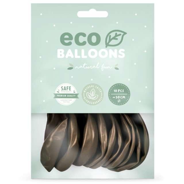 Balony Ekologiczne brązowy metalik Partydeco 10 10 szt