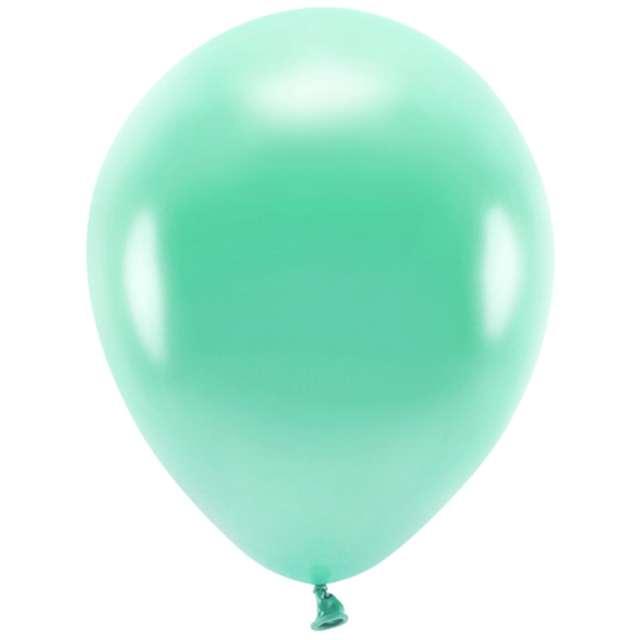"""Balony """"Ekologiczne"""", ciemnomiętowy metalik, Partydeco, 10"""", 10 szt"""