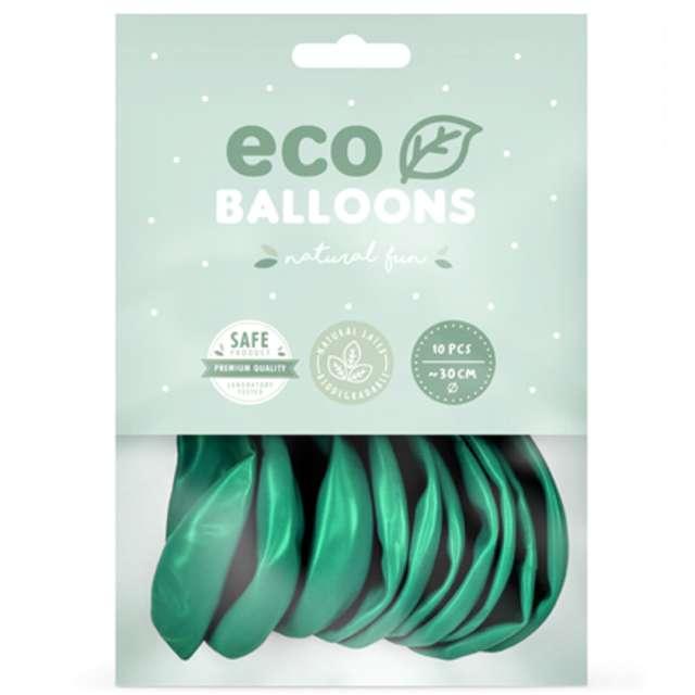 Balony Ekologiczne ciemnomiętowy metalik Partydeco 10 10 szt