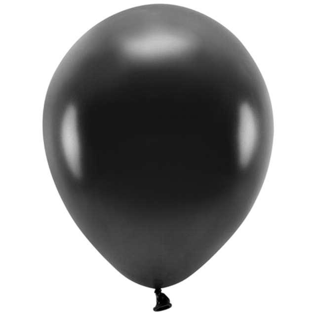 """Balony """"Ekologiczne"""", czarny metalik, Partydeco, 10"""", 10 szt"""