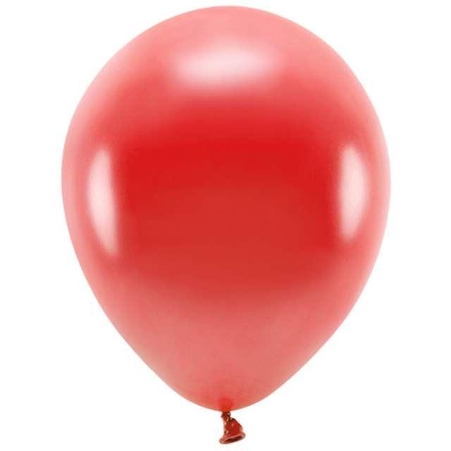 Balony Ekologiczne czerwony metalik Partydeco 10 10 szt