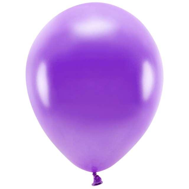 """Balony """"Ekologiczne"""", fioletowy metalik, Partydeco, 10"""", 10 szt"""