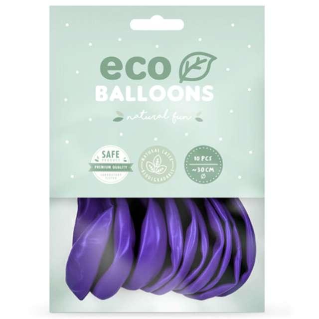 Balony Ekologiczne fioletowy metalik Partydeco 10 10 szt