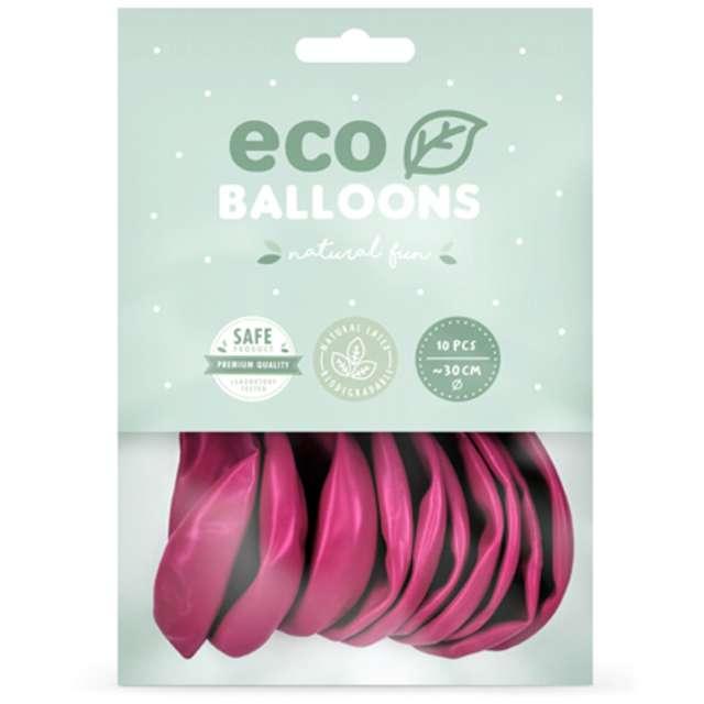 Balony Ekologiczne fuksja metalik Partydeco 10 10 szt