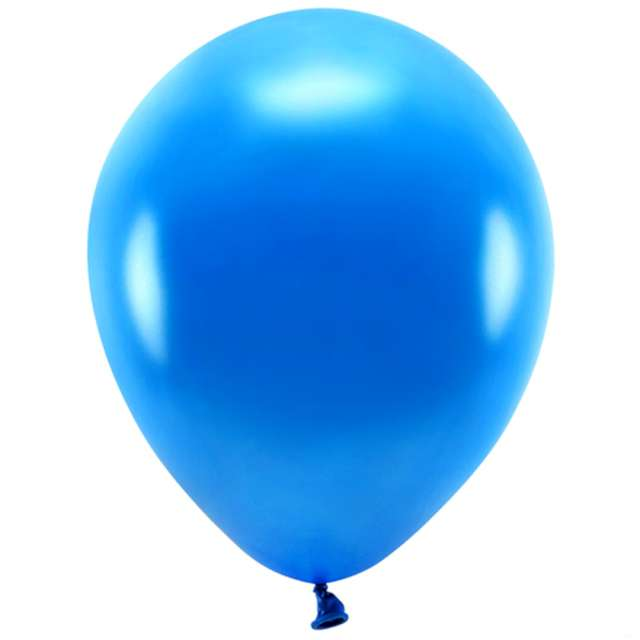 Balony Ekologiczne granatowy metalik Partydeco 10 10 szt