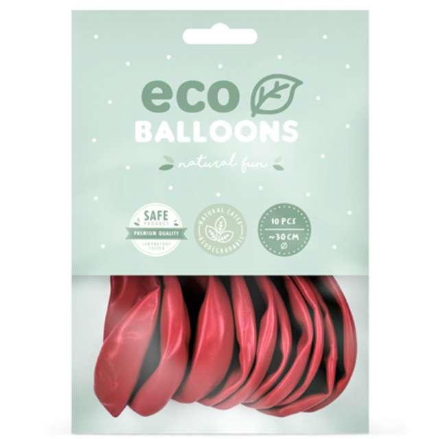 Balony Ekologiczne jasnoczerwony metalik Partydeco 10 10 szt