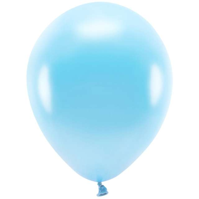 """Balony """"Ekologiczne"""", jasnoniebieski metalik, Partydeco, 10"""", 10 szt"""