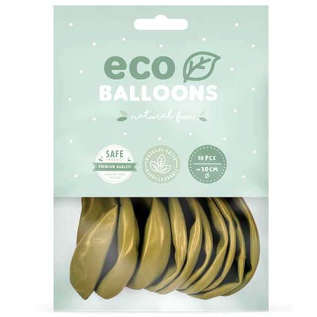 Balony Ekologiczne jasnozłoty metalik Partydeco 10 10 szt