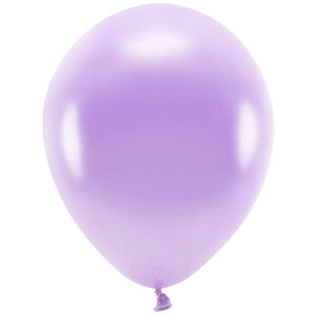 "Balony ""Ekologiczne"", lawendowy metalik, Partydeco, 10"", 10 szt"