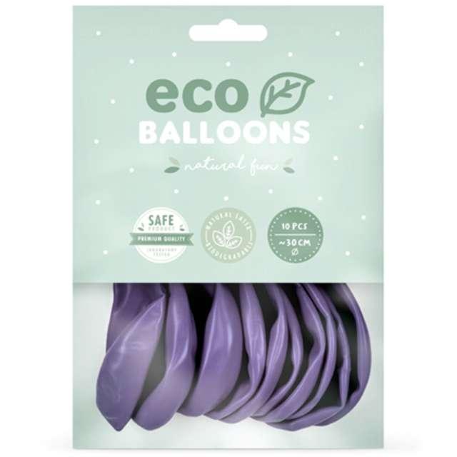 Balony Ekologiczne lawendowy metalik Partydeco 10 10 szt