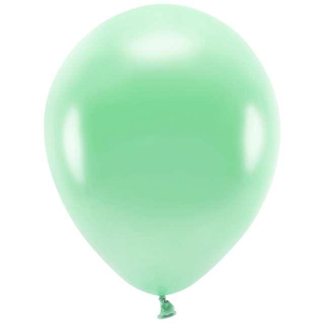 """Balony """"Ekologiczne"""", miętowy metalik, Partydeco, 10"""", 10 szt"""