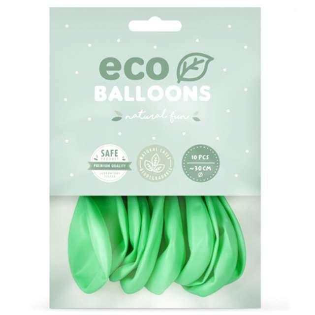 Balony Ekologiczne miętowy metalik Partydeco 10 10 szt