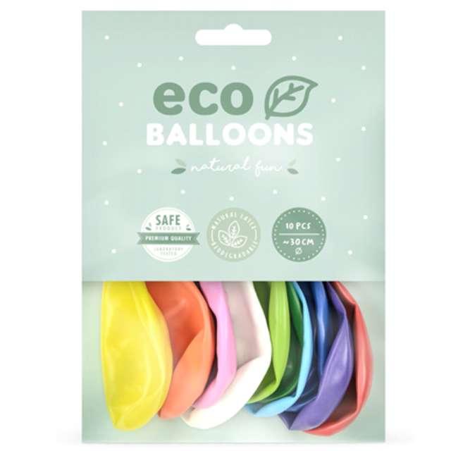 Balony Ekologiczne mix metalik Partydeco 10 10 szt