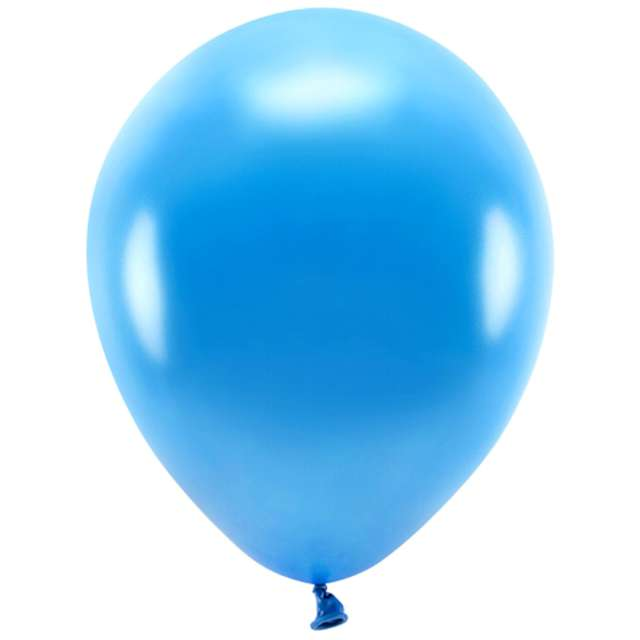 """Balony """"Ekologiczne"""", niebieski metalik, Partydeco, 10"""", 10 szt"""